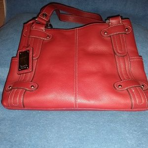 Tignanello red leather shoulder bag.